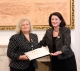 President Jahjaga handed the diplomas to the decorated persons on the occasion of Freedom Day